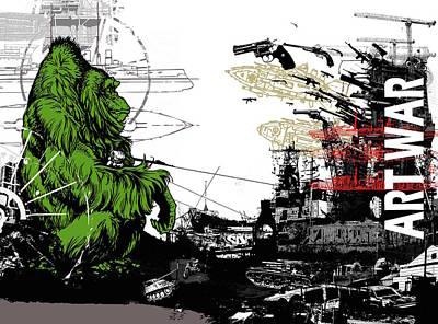 Mixed Media - Art War by Sam Arneson