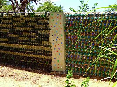 Education By Traveling Photograph - Art With Recycling - Walls From Bottles 1 by Exploramum Exploramum