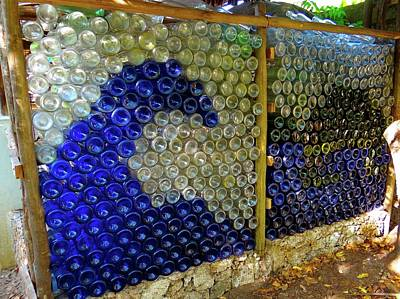 Education By Traveling Photograph - Art With Recycling - Walls From Bottles Wave by Exploramum Exploramum
