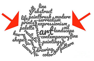 Digital Art - Art Word Cloud 1 by Karen Francis