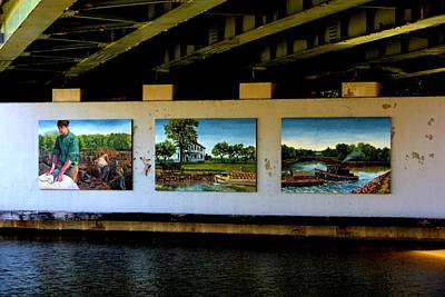 Art Work On The Erie Canal Art Print by Richard Jenkins