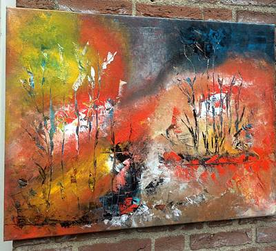 Art Print featuring the painting Art Work by Sheila Mcdonald