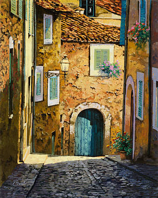 Door Painting - Arta-mallorca by Guido Borelli