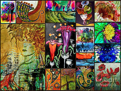 Mixed Media - Artbyjolla Fine Art Postcards by Jolanta Anna Karolska