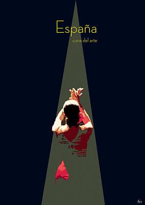 Flamenco Digital Art - Arte Andaluz by Joaquin Abella