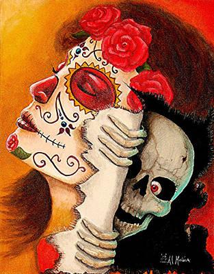 Arte De Los Muertos Y Sustos Art Print