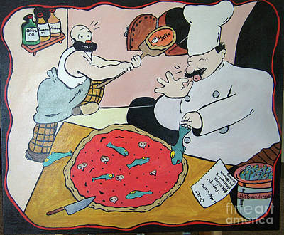 Painting - Arte Pizza by Pat Saunders-White