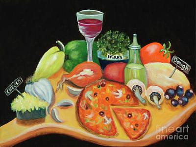 Painting - Arte's Pizzeria by Pati Pelz