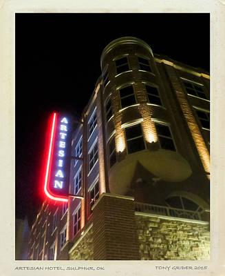 Photograph - Artesian Hotel Suphur Ok Polaroid by Tony Grider
