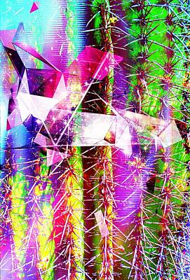 Mixed Media - Artful Cactus by Michelle Dallocchio