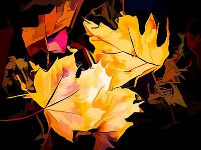 Maple Leaf Art Mixed Media - Artful Maple Leaves by Debra Lynch
