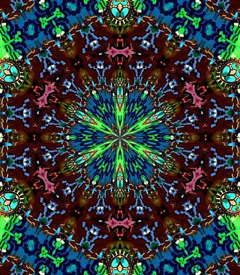 Cabochon Digital Art - Artful Oasis Fractal 4 by Belinda Cox