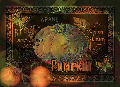 Digital Art - Artful Pumpkins by Sarah Vernon