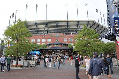 Photograph - Arthur Ashe Stadium by David Grant