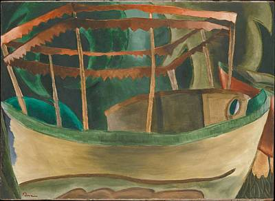Christmas Christopher And Amanda Elwell Rights Managed Images - Arthur Dove, 1880-1946, Fishboat Royalty-Free Image by Arthur Dove