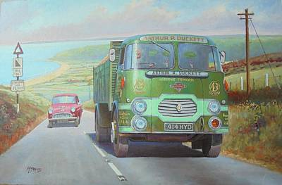 Painting - Arthur Duckett's Rowe Hillmaster On Polock. by Mike Jeffries