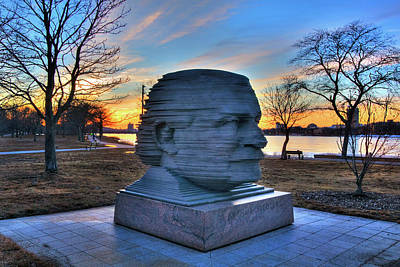 Photograph - Arthur Fiedler Sculpture - Charles River Esplanade by Joann Vitali