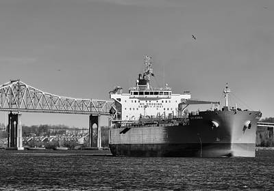 Photograph - Arthur Kill Tanker And Outerbridge Crossing by Steven Richman