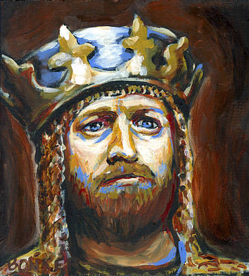 Burmese Python Painting - Arthur King Of The Britons by Buffalo Bonker