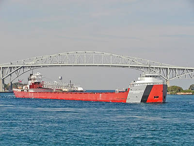 Port Huron Photograph - Arthur M. Anderson Downbound by Kenneth Hein