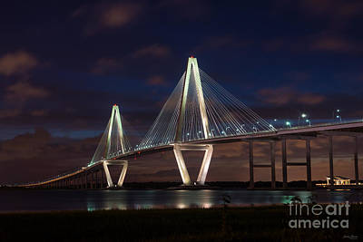 Photograph - Arthur Ravenel At Night by Jennifer White