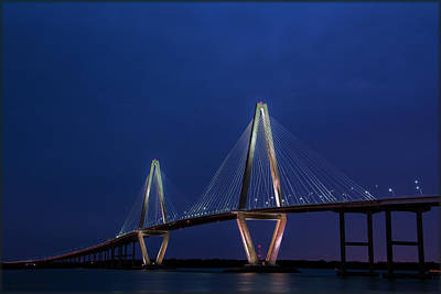 Photograph - Arthur Ravenel Blue Hour by Erika Fawcett