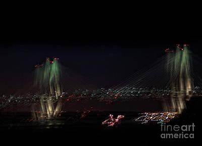 Restaurant Equipment Abstract Photograph - Arthur Ravenel Bridge Abstact by Skip Willits