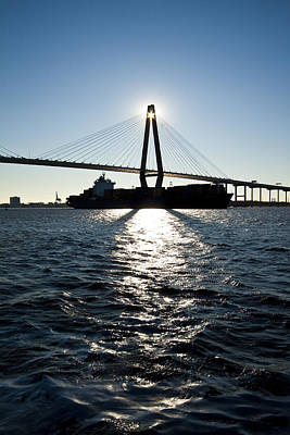 Arthur Ravenel Bridge Shadows Art Print