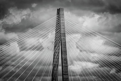Photograph - Arthur Ravenel Jr. Bridge Detail by Robert Mitchell