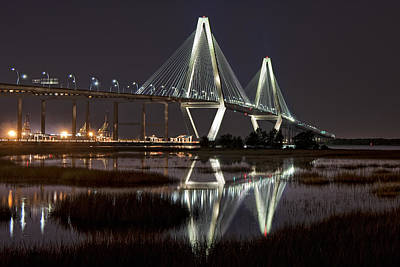 Photograph - Arthur Ravenel Jr. Bridge by Ken Barrett