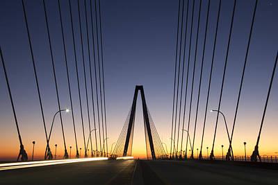 Ravenel Photograph - Arthur Ravenel Jr Bridge Sunrise by Dustin K Ryan