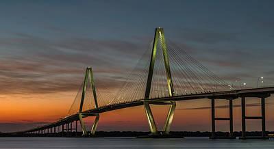 Photograph - Arthur Ravenel Jr. Bridge Twilight by Donnie Whitaker