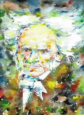 Arthur Schopenhauer - Watercolor Portrait.1 Original