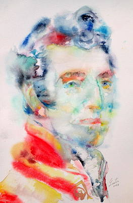 Arthur Wellesley-1st Duke Of Wellington - Watercolor Portrait Original