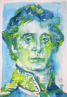 Painting - Arthur Wellesley,1st Duke Of Wellington - Watercolor Portrait.2 by Fabrizio Cassetta