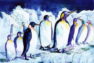 Painting - Arctic Penquins by Connie Williams
