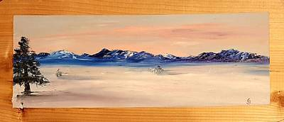 Painting - Artic Sunset Sketch   2 by Cheryl Nancy Ann Gordon