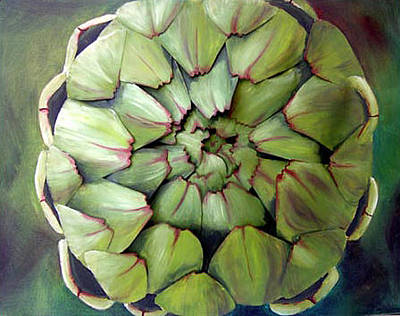 Artichoke Mixed Media - Artichoke - Original Sold by Cathy Savels