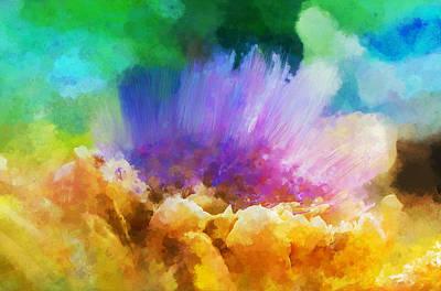 Artichoke Mixed Media - Artichoke Abstract by Terry Davis