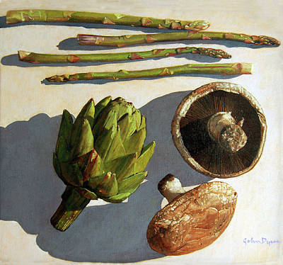 Painting - Artichoke And Friends by John Dyess