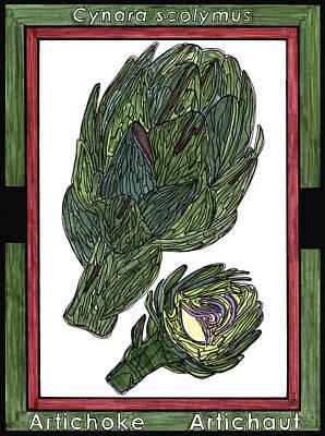 Artichoke Drawing - Artichoke Artichaut by Baya Clare