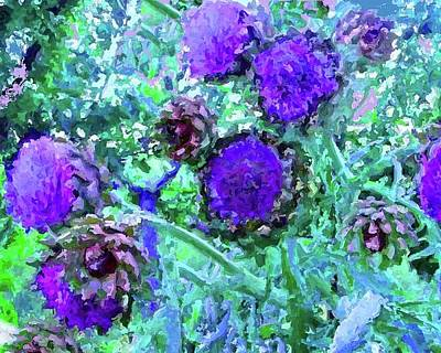Artichoke Digital Art - Artichoke Blues by Amber Stubbs