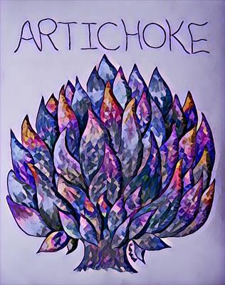 Artichoke Digital Art - Artichoke Digital 3 by Megan Walsh