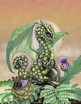 Digital Art - Artichoke Dragon by Stanley Morrison