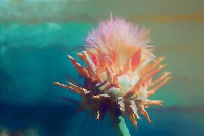 Artichoke Mixed Media - Artichoke Flower Abstract by Terry Davis