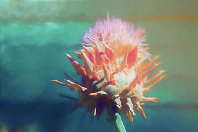 Artichoke Mixed Media - Artichoke Flower by Terry Davis