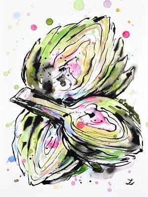 Painting - Artichoke Hearts by Zaira Dzhaubaeva