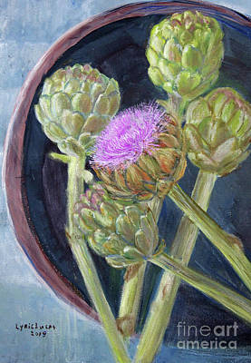 Painting - Artichoke In Bloom by Lyric Lucas