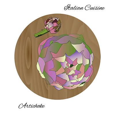 Artichoke Digital Art - Artichoke by Marina Usmanskaya