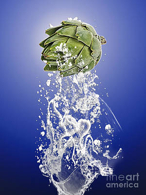 Artichoke Splash Art Print by Marvin Blaine